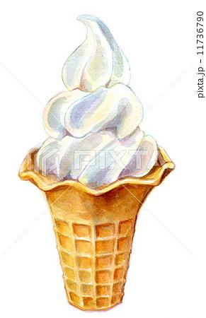 ソフトクリームのイラスト素材 11736790 Pixta