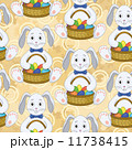 Seamless pattern, Bunnies with Easter eggs 11738415