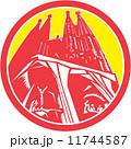 Sagrada Família Church Retro 11744587