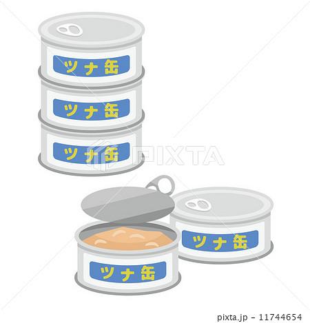 ツナ缶食材シリーズのイラスト素材 11744654 Pixta