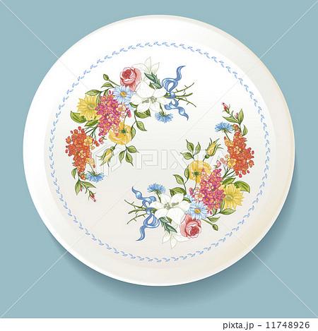 Baroque Bouquet of wildflowers on white plateのイラスト素材 [11748926] - PIXTA