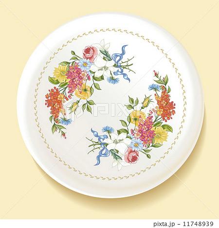 Baroque Bouquet of wildflowers on white plateのイラスト素材 [11748939] - PIXTA