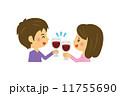 ベクター 人物 ワインのイラスト 11755690