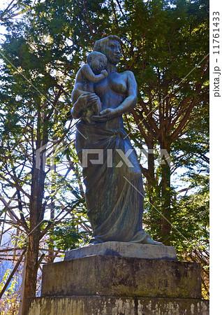 熊ノ平駅にある「母子像 愛」(群馬県安中市松井田町) 11761433