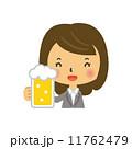 ビール 酒 OL ジョッキ 11762479