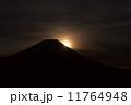 朝日 富士山 太陽の写真 11764948