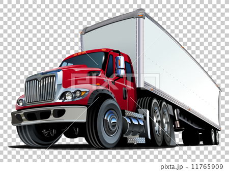 Cartoon semi truck 11765909