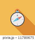 コンパス フラット 平のイラスト 11780675