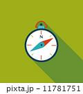 コンパス フラット 平のイラスト 11781751