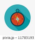 コンパス フラット 平のイラスト 11783193