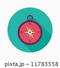 コンパス フラット 平のイラスト 11783558