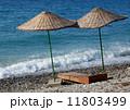 Two umbrella  at the beach 11803499