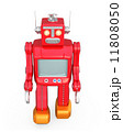 赤色レトロロボットが歩く 11808050
