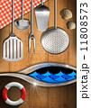 シーフード 海の幸 魚介類のイラスト 11808573