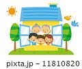 住宅 ベクター 三世代のイラスト 11810820