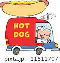 ハンバーガー バーガー 自動車のイラスト 11811707