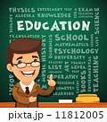 Teacher With Education Poster on Blackboard 11812005
