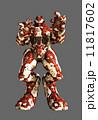 Red Alien Battle Robot 11817602