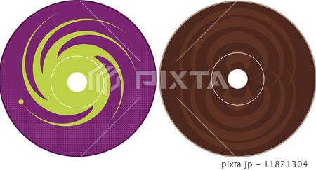 cd dvd label design templateのイラスト素材 11821304 pixta