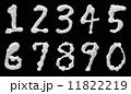 シェービングフォームで書いたアラビア数字 11822219