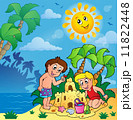 Summer theme with children playing 11822448