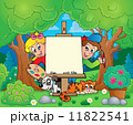 Tree theme with painting children 11822541