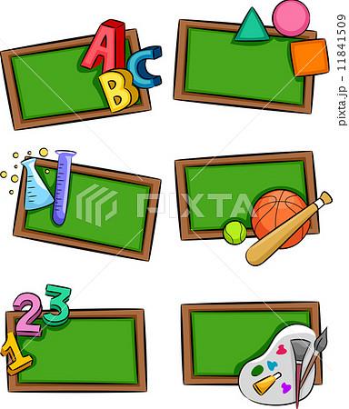 school subjects iconsのイラスト素材 11841509 pixta