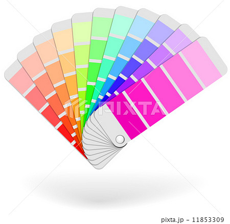 color sample catalogue sheaf vector iconのイラスト素材 11853309