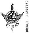 短剣 ナイフ 出刃のイラスト 11855469