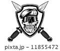 短剣 ベレー帽 戦士のイラスト 11855472