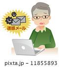 迷惑メール 人物 パソコンのイラスト 11855893