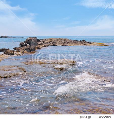 scenic sea shore and blue sky 11855969