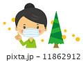 スギ花粉 ベクター 女性のイラスト 11862912