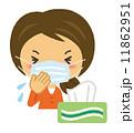 咳 ベクター 鼻水のイラスト 11862951