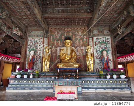 世界遺産 韓国 仏国寺 大雄殿 釈迦牟尼像 11864775
