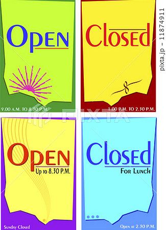 Sign open closed template 11874911 pixta for Open closed sign template