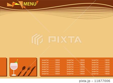 Menu Card Design Templateのイラスト素材 [11877006] - PIXTA