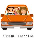 男女 家族旅行 自動車のイラスト 11877418