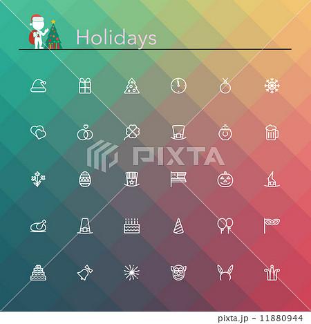 Holidays Line Icons 11880944
