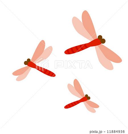赤トンボのイラスト素材 11884936 Pixta
