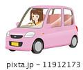 女性 軽自動車運転 ピンク 11912173