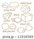 ベクター メロンパン 食べ物のイラスト 11916569