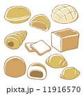 メロンパン ベクター 食べ物のイラスト 11916570