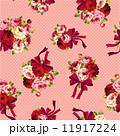 ベクター 水玉 薔薇のイラスト 11917224