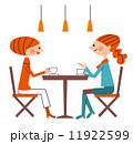 カフェ ティータイム 女性ふたり 11922599
