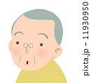 驚く おじいさん 男性のイラスト 11930950