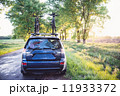 林道 森林 車の写真 11933372
