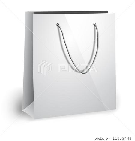 blank paper bag templateのイラスト素材 11935443 pixta