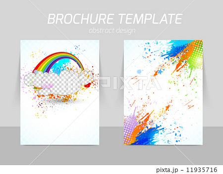 flyer template designのイラスト素材 11935716 pixta