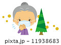 花粉症 おばあさん スギ花粉 11938683
